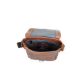 STONE 4 koniak - skórzana torba na ramię / leather shoulder bag / ledertasche
