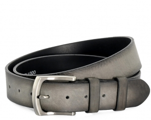 Leather Belt ALIVE 110 grey